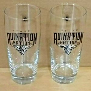 Pair of Stone Brewing Ruination Nation Glasses